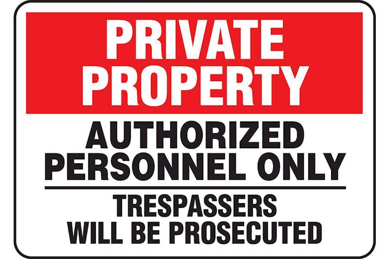 Trespassing and Property Signs