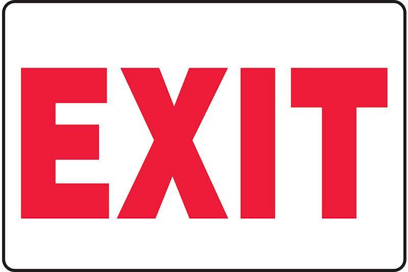 Entrance and Exit Signs