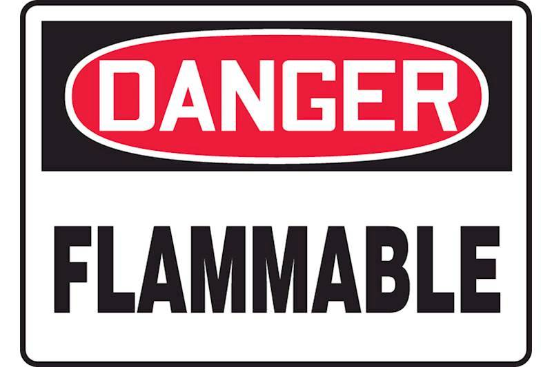 Flammables, Explosives and Combustibles Signs