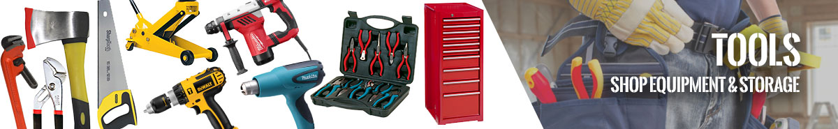 Tools, Shop Equipment and Storage