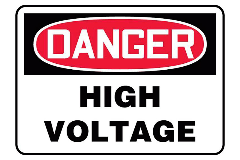 High Voltage and Electrical Hazard Signs