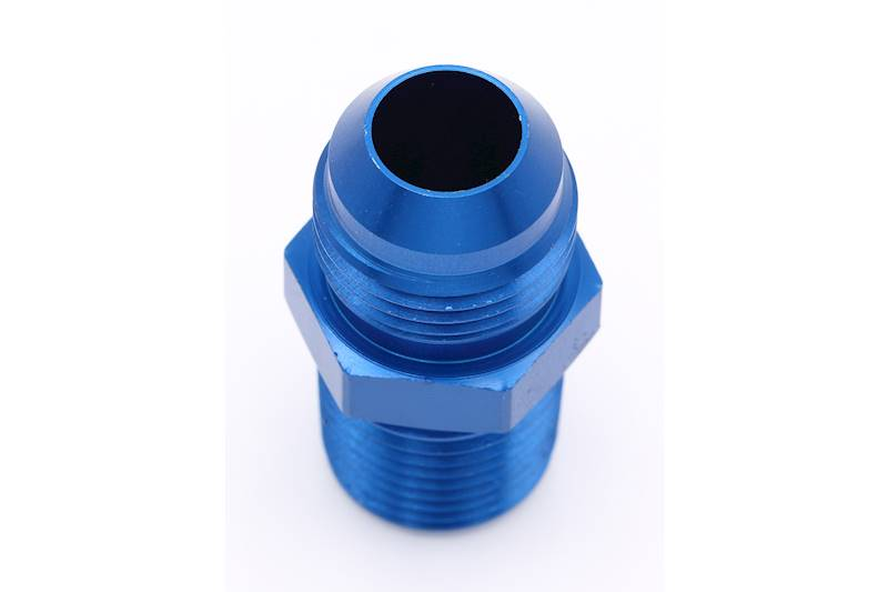 10AN to 1//2 NPT Pipe Fitting Aeroquip FCM2009 Blue Anodized Aluminum