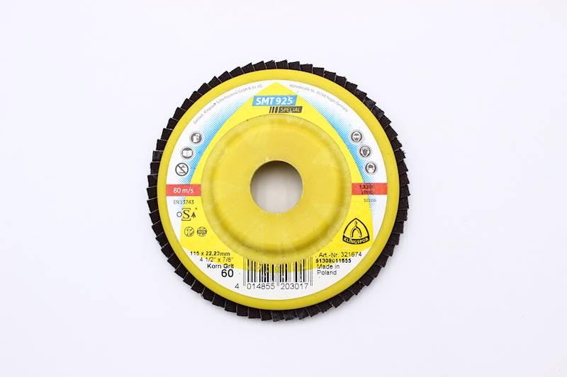 """New Klingspor 60 or 80 Grit 10 Pack Abrasive Mop Flap Disc SMT324-4 1//2x7//8/"""""""