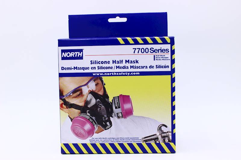 north safety 770030l 7700 series silicone half mask respirator